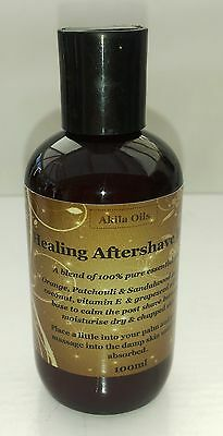 Healing Aftershave Balm 100ml with Orange Patchouli Sandalwood Essential Oils