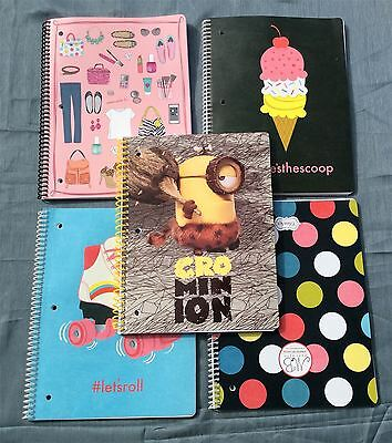 Wholesale Lot of 25 Assorted Spiral Notebooks Mixed Designs
