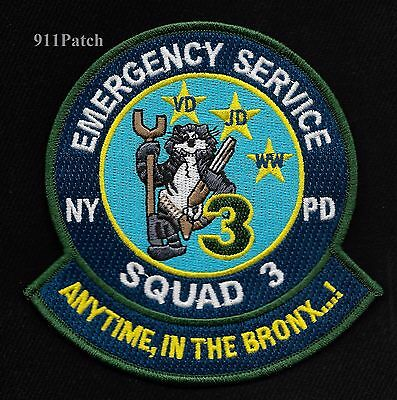 BRONX - New York ESS Truck 3 TOMCAT Emergency Service Squad Police Patch