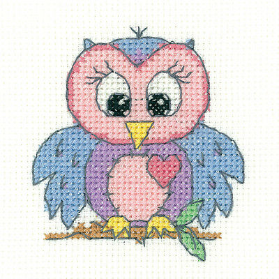 Heritage Crafts Junior Plus - Owl Cross Stitch Kit
