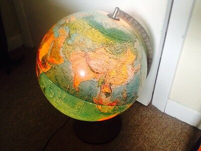 Vintage 1972 Scan Globe A/S Spot Scan Illuminated  Made in Denmark Rare