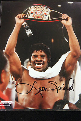 Leon Spinks Signed 8X10 Photo
