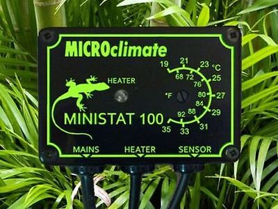 Microclimate Ministat 100 w On/Off Reptile Vivarium Thermostat Control Heating