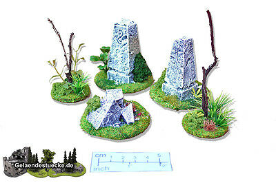 Gelände 5 teiliges Grenzstein Set! Scenery way stone set(5 pcs.)! SONDERPREIS