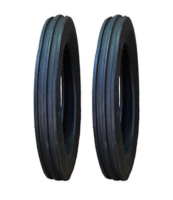 2 New Ford 8N 9N 4.00-19 4-19 Front Tractor Tires 400-19 4-19 FREE Shipping