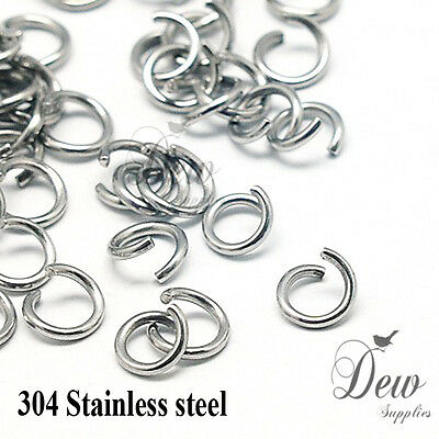 100 x 8mm stainless steel jump rings connectors jewellery findings