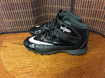 Nike Tebow boy's football cleats youth size 6 black white lace up  F17