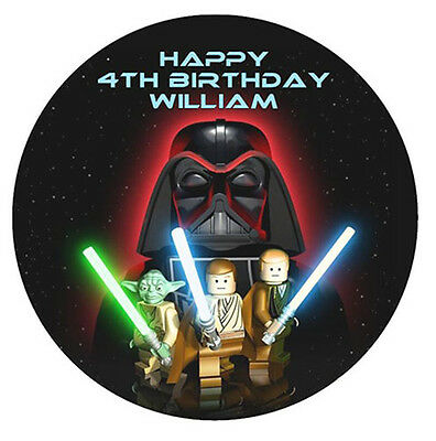 STAR WARS Personalised Edible WAFER PAPER Birthday Cake Decoration Topper Image
