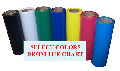 "5rolls pack 15""x3ft Heat Transfer PU Vinyl w/ sticky back,34colors;Cutter,Press"