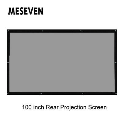 """100"""" 16:9 HD Movie Projector Rear Behind Projection Screen Curtains Foldable"""