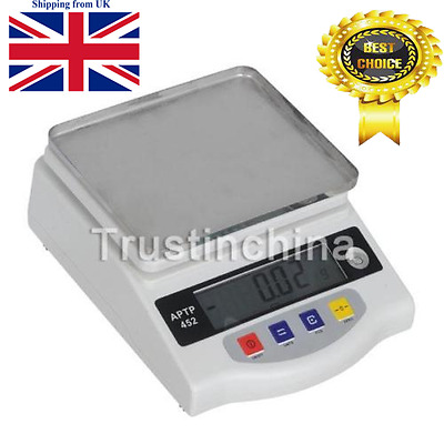 HIGH PRECISION 2000g 0.01g SCALE LABORATORY DIGITAL ELECTRONIC WEIGHING BALANCE