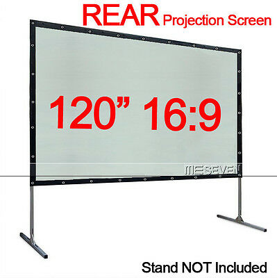 120 Inch 16:9 Back Behind Rear Projection Screen Curtains Film for HD Projectors