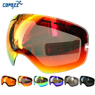COPOZZ Skiing Snowboard Goggles Lens Polarized Anti-fog UV For Model COPOZZ 201