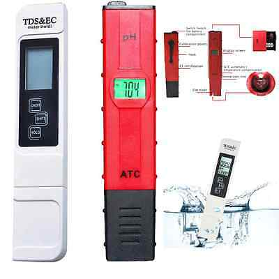 2x Digital LCD TDS PH Meter Water Purity Quality TEMP PPM Temperature Tester Pen