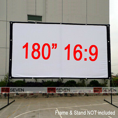 180 Inch 16:9 Front Projection Screen Curtains Film for 3D Outsides HD Projector
