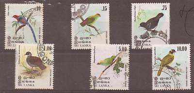 Sri Lanka Sg684/9 1979 Birds F/used