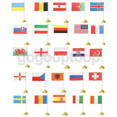 """5.5 x 8.3"""" Table Desk Top Flag National Flags Country Banner W Base Meeting Flag"""