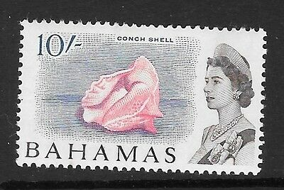 Bahamas Sg260 1965 10/- Rose,blue & Chocolate Mtd Mint