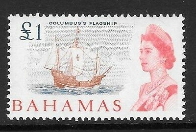 Bahamas Sg261 1965 £1 Chestnut Blue & Rose-Red Mtd Mint