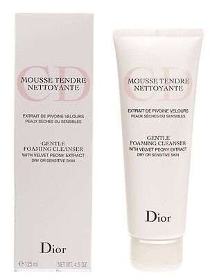 Dior Gentle Foaming Cleanser With Velvety Peony Extract 125Ml Dry Sensitive Skin