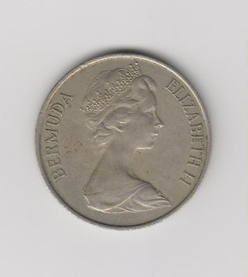*1970 Bermuda Featuring Queen Elizabeth II - 50 Cents Coin - First Year Issue