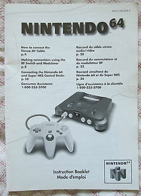 Nintendo 64 N64 - Instruction Booklet console (Bilingual manual only - Canadian)