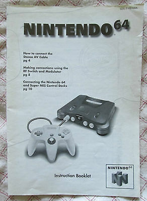 Nintendo 64 N64 - Instruction Booklet console (Manual only - USA)