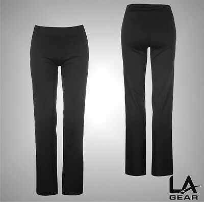 Ladies Branded LA Gear Straight Stretch Yoga Training Pants Trousers Size 8-16