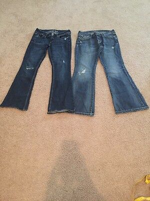 Lot Of Sz 8 Regular Jeans 1 Old Navy The Diva 1 American Eagle Artist Stretch