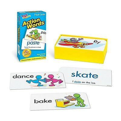 96 pc Action Words Flash Cards Special Needs Autism Speech Therapy ABA