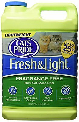 Cats Pride Fresh and Light Premium Clumping Fragrance Free Scoopable Cat Litter