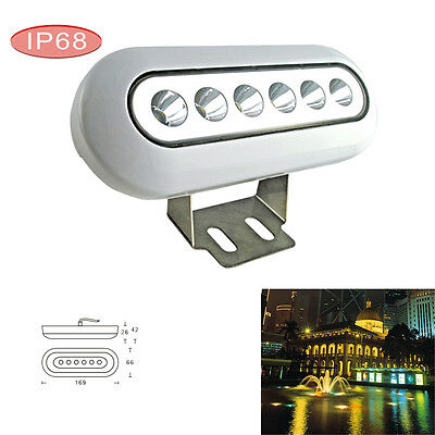 12W Bright LED Underwater Boat Light Stainless Warm White Yacht Fish Pool IP68