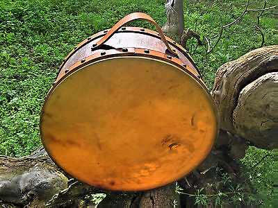 15' Double Headed Drum,  Horse hide, handcrafted