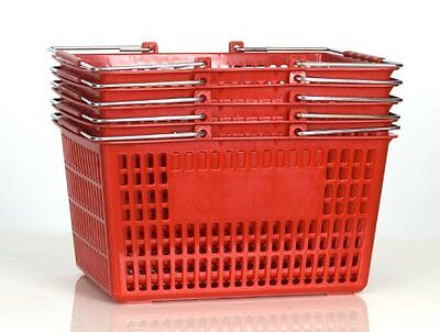 NEW Shopping Basket Set set of 5 red