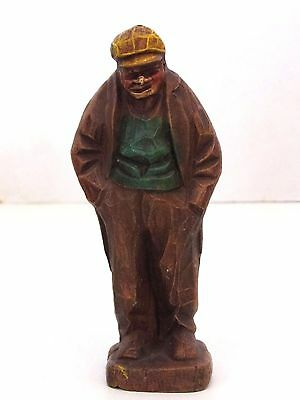 """Vintage Resin Carving Figure man with hands in pockets 4"""" Tall Strikalite NY"""