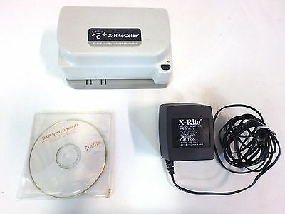 X-Rite Color DTP41 AutoScan Spectrophotometer w/ Software Disc Densitometer Scan