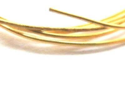 9ct Yellow Gold Solid Round Wire -Half-Hard 1.0mm x 100mm-Jewellery Making .375