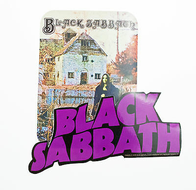 Black Sabbath Set Of 2 Vinyl Stickers New & Official Pyramid Band Merchandise