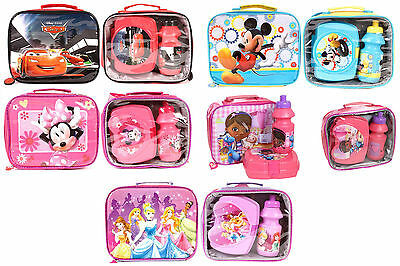3 Piece Children Kids Boys Girls Insulated Lunch Bag School/Picnic Bags