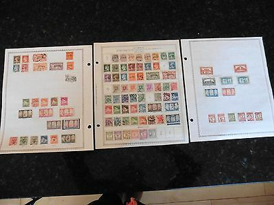 A35 Algeria Algerie stamps Minkus Double Sided Sheets 1924-1941 1926-1947 hinged