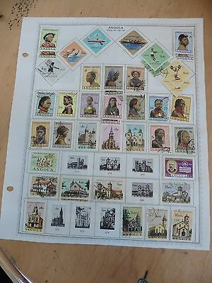 A56 Angola Africa Portugese stamps Minkus Page 1961-1964 1965-1966 girls hinged