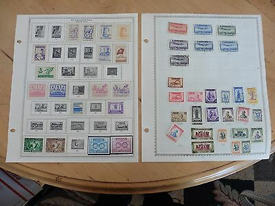 A13 Afghanistan stamps Minkus 2 Double Sided Sheets 1951-1958 1958-1960 hinged
