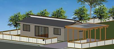 2 Bedroom DIY Granny Flat Kit - The Seascape 72 on Gal Chassis - CGI Wall Sheets