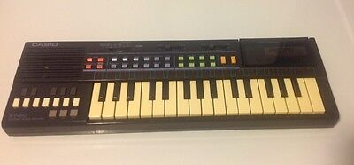 Vintage CASIO PT-80 Black Electronic  Keyboard Piano with World Songs ROM