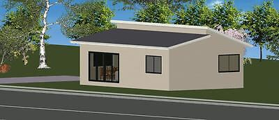 2 Bedroom DIY Granny Flat Kit The Cityscape 70m2 on Gal Chassis- CGI Wall Sheets