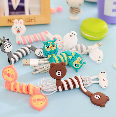 1 Pcs Headphone Earphone Wrap Winder Wire Cable Mini Organizer Holder Animal
