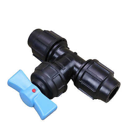 Compression Stopcock 68725 For Metric Poly Pipes (Pn 12.5) 20mm Plasson