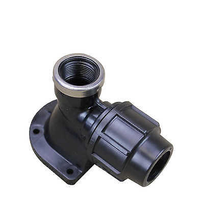 Metric Poly Wall Plate ELBOW 25mm x 3/4 Inch 71564 Water Irrigation Plasson