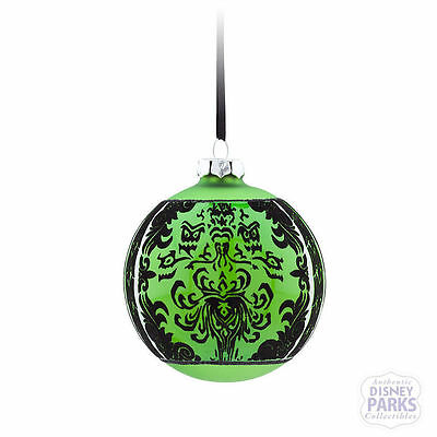 Disney Parks Store - The Haunted Mansion Glass Ball Christmas Ornament - Green
