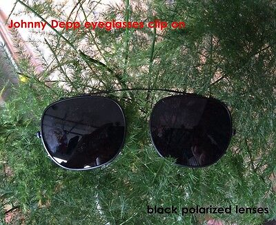 34ee0ab328 Johnny Depp Clip-on Sunglasses Lens Round Polarized Flip-up Sunglass Lens  Retro